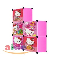 harga AIUEO - Lemari Pakaian Motif Hello Kitty 5 Pintu - Pink Tokopedia.com