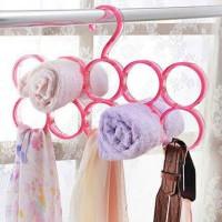 Gantungan jilbab, sabuk, scarf / hanger rack organizer 10grid