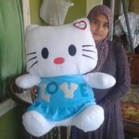 boneka hk/hello kitty/helo kity baju love besar/jumbo