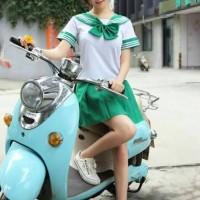 harga Set Seifuku Sailor Seragam Sekolah Jepang Cosplay Baju Hijau Import Tokopedia.com