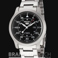 Jam Tangan Uniex - Seiko 5 SNK809K1 Automatic Silver Black New