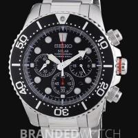 Seiko SSC015P1 Divers Solar Chronograph Silver Black