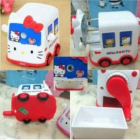 Serutan Pensil Hello Kitty Mobil