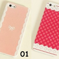 harga Hard Case Sweet Color Cute Pink Bow Print For Iphone 5 5s Tokopedia.com