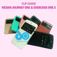 Leather Case Flipcase Flipcover Evercoss One X Dan Nexian Journey One