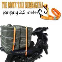 Jual Tali Kuat Serbaguna Bagasi Tie Down Pengikat Barang Ratchet 2,5 m Box Murah