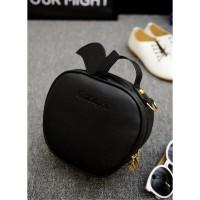 tas selempang kecil hitam fashion korea jepang kawai unik plum wanita