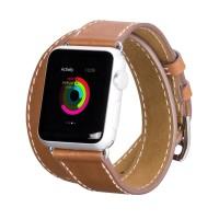 harga Apple Watch Her*** Double tour Strap 42mm 38mm Genuine Leather Premium Tokopedia.com