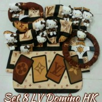 Bantal Mobil 8 in 1 LOUIS VUITTON Domino Hello Kitty Catoon