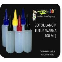 Botol Tinta lancip HDPE 100ML