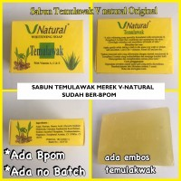 SABUN V-NATURAL / Temulawak VNatural Whitening Beauty Soap - Ber-BPOM