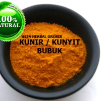 Jamu Herbal Tradisional Tanaman Rempah Obat Kunir/Kunyit Bubuk Asli