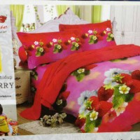 Sprei Lady rose No.1 Strawberry 3D 3in1