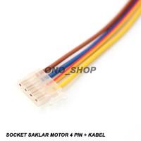 Socket Saklar Motor 4 Pin + Kabel