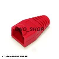 RJ45 Plug Boot / Cover Merah