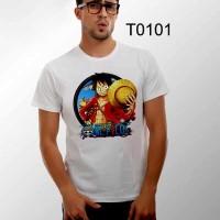 T0101 - kaos animasi kartun kaos gambar one piece kaos anime manga
