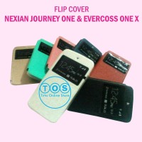 Leather Case Flipcase Flipcover Evercoss One X Dan Nexian Journey One