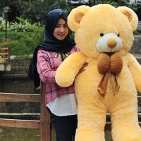 Boneka Beruang Teddy Bear Cream Super Jumbo 120 CM