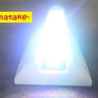 Lampu SIRIP HIU PUTIH 8 LED solar power Aksesoris variasi MOBIL