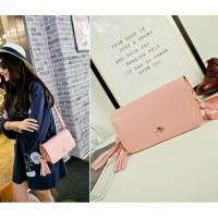tas wanita warna pink muda charles and keith oriflame bagus kece murah