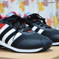 Sepatu Casual Adidas V Racer Nylon Black Red