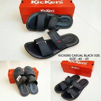 harga Sandal Kickers Flip Black 020 Tokopedia.com