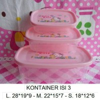 Kotak Makan / Food Container / Lunch Box Hello Kitty 3pc