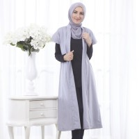 Outer Vest Rompi Muslim Musoffia Abu Formal Kantor Casual Hijab