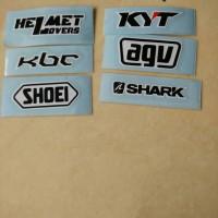 sticker visor, shoei, kbc, kyt, agv, shark, helmet lover