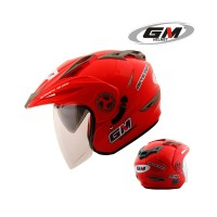 Helm GM New Imprezza Solid Merah Ferrari