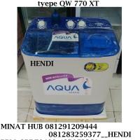 MESIN CUCI 2 TABUNG MEREK SANYO AQUA SERI / TYPE QW 770 XT