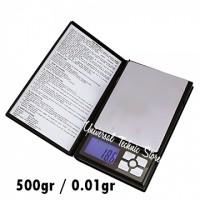 Timbangan Emas Digital Pro Notebook 500gr / 0.01gr
