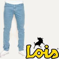 Celana Jeans Pria Lois Model (Skinny (Pensil) Bioblitz (Biru Muda)