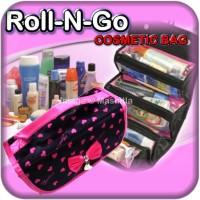Roll n go makeup organizer peralatan make up Tas kosmetik