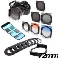 Filter Holder Square + 6 Filter Cokin Set + Holder + Tas + Ring 72MM