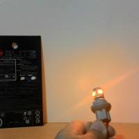 Lampu LED 5 Titik T10 Merek Blitz Wrn Kuning / Lampu Senja / Lampu Kota