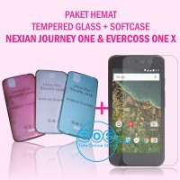 [paket] Tempered Glass + Softcase Nexian Journey One & Evercoss One X