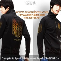 Jaket Anime Shingeki No Kyojin Long Sleeve SNK 56