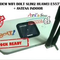 Jual MODEM WIFI 4G LTE BOLT SLIM2 SLIM 2 HUAWEI E5577 UNLOCK +ANTENA INDOOR Murah