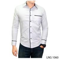 harga Kemeja Slimfit Model Korea Warna Putih  Lng 1060 Tokopedia.com