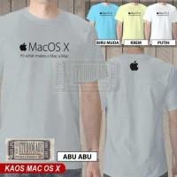 harga Kaos Apple Mac OSX | baju pencinta iPhone iPod iPad iMac Macbook iOS Tokopedia.com