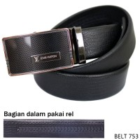 Mens Belt Fashion Semi Kulit Hitam BELT 753