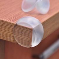 Silikon Oval Transparan Siku Pengaman pelindung sudut meja kaca anak