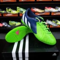 Sepatu Futsal Adidas Predito Instinct Solar Green Blue