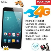 Handphone / HP Polytron ZAP 6 4G 500 [RAM 2GB / Internal 16GB]