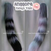 Anggora Neko Tail Ekor Belang Accesories Cosplay kawaii
