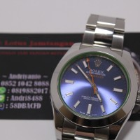harga Rolex Milgauss Blue Dial with Green Sapphire Glass Tokopedia.com