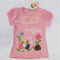 Kaos Anti Gerah - Kaos Anak Import Geenee Owl Girl 3T