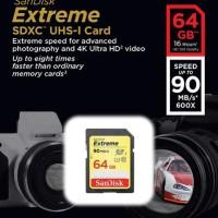 SanDisk SDHC Extreme 64GB Class 10 U3 / UHS-I 90MB / S