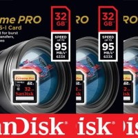 SanDisk Extreme PRO 32GB UHS-I / U3 SDHC Flash Memory Card with Up To 95